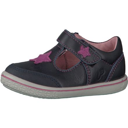 Ricosta MANDY Star Leather Velcro Shoe (Navy)
